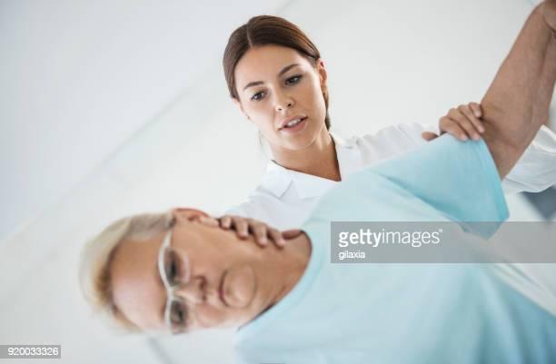 Neck pain medical exam.