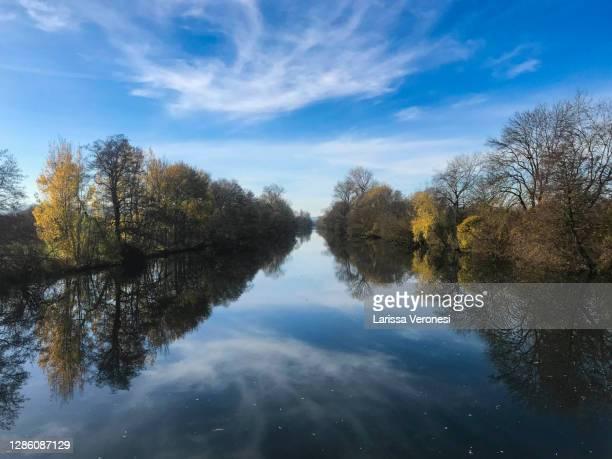 neckar river, near tubingen - larissa veronesi stock-fotos und bilder