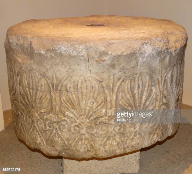Necking drum of an Ionic column from Halicarnassus It was used as a mortar in the Castle of St Peter from the Mausoleum at Halicarnassus About 350 BC...
