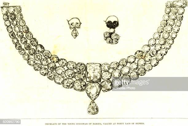 Necklace of the young Guicowar of Baroda, valued at forty Lacs of rupees, India