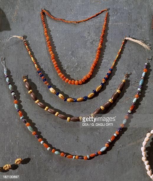 Necklaces with precious stones Egyptian civilisation Middle Kingdom Paris Musée Du Louvre