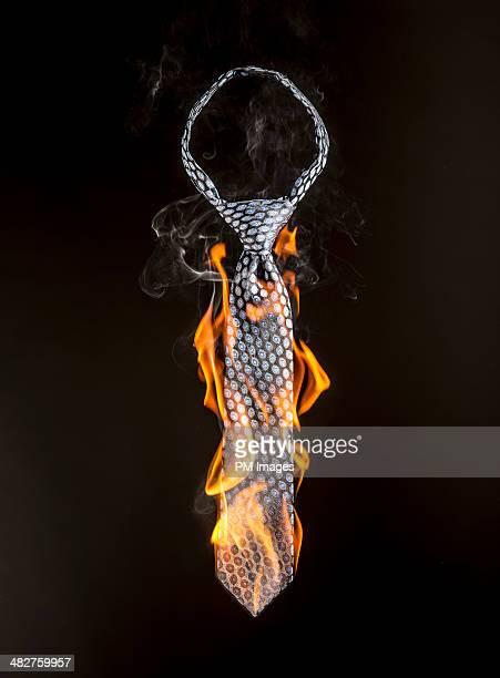 Necktie on Fire