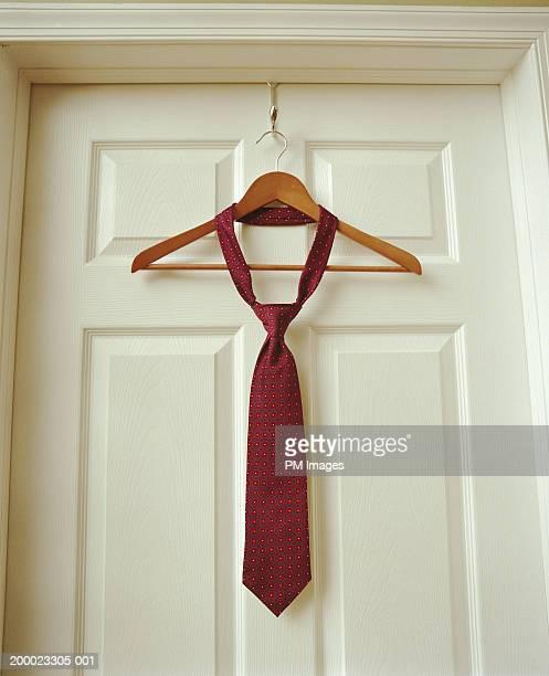 Necktie on hanger
