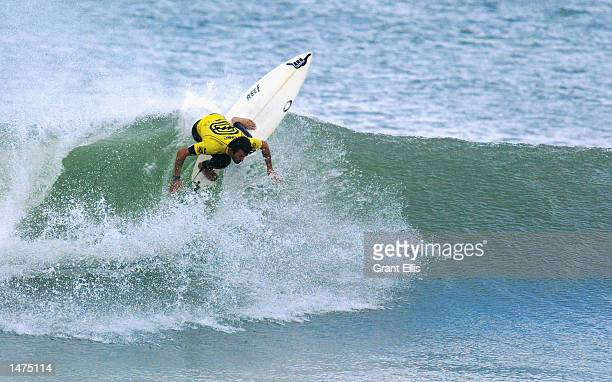 Neco Padaratz of Brazil winner of the recent Quiksilver Pro advanced to the Quarter Finals of the Billabong Pro at Mundaka Spain on October 14 The...