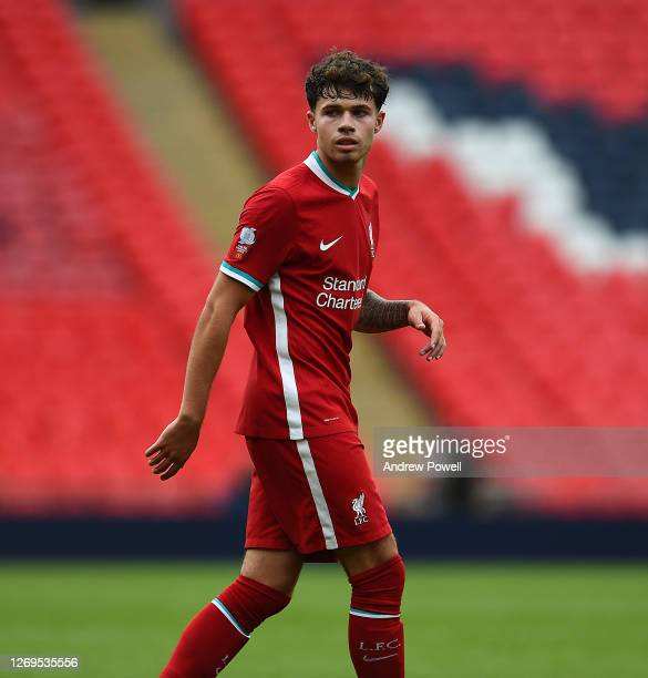 Neco Williams of Liverpool during the FA Community Shield final at Wembley Stadium on August 29, 2020 in London, England.