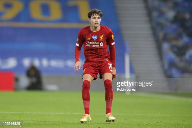 Neco Williams of Liverpool during the Premier League match between Brighton & Hove Albion and Liverpool FC at American Express Community Stadium on...