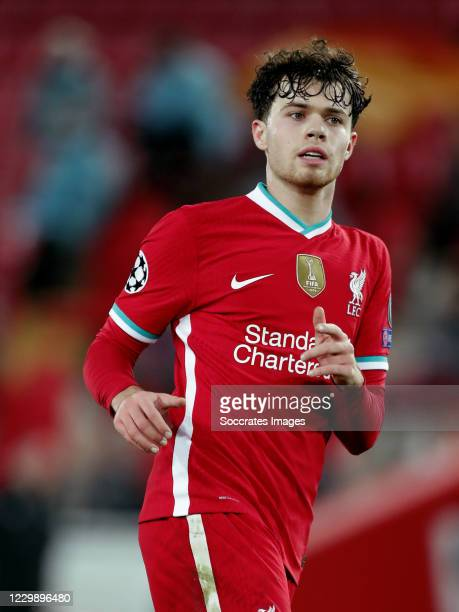 Neco Williams of Liverpool during the UEFA Champions League match between Liverpool v Ajax at the Anfield on December 1, 2020 in Liverpool United...