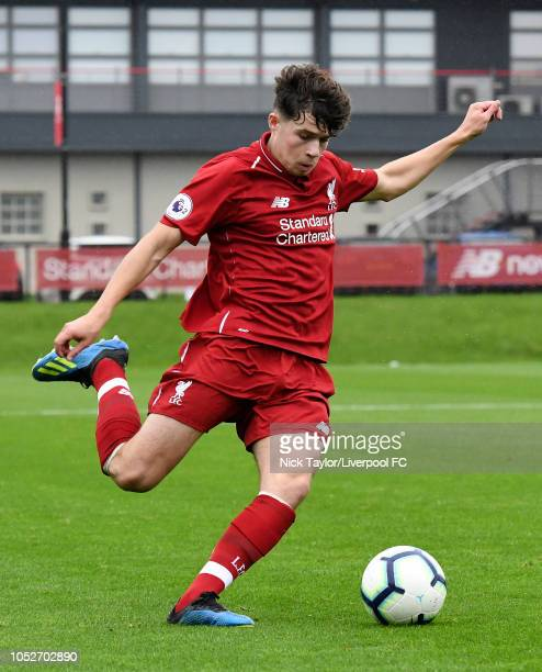 Neco Williams of Liverpool in action during the PL2 game at The Kirkby Academy on October 21 2018 in Kirkby England