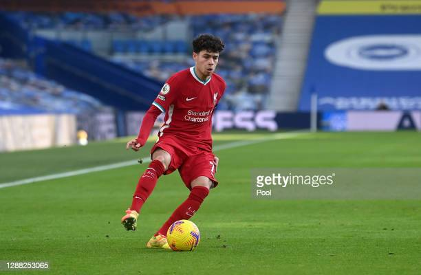 Neco Williams of Liverpool in action during the Premier League match between Brighton & Hove Albion and Liverpool at American Express Community...