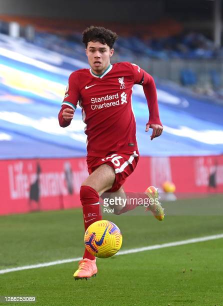 Neco Williams of Liverpool runs with the ball during the Premier League match between Brighton & Hove Albion and Liverpool at American Express...