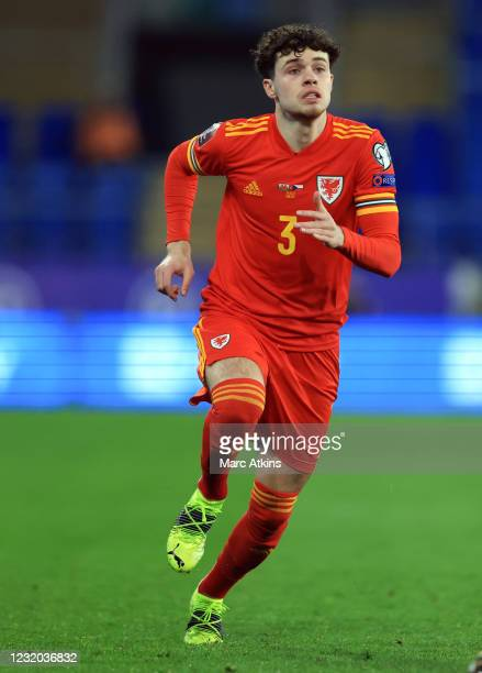 Neco Williams of Wales during the FIFA World Cup 2022 Qatar qualifying match between Wales and Czech Republic on March 30, 2021 in Cardiff, United...