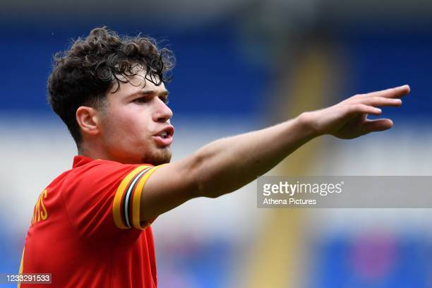 Neco Williams of Wales during the International Friendly Match between Wales and Albania at the Cardiff City Stadium on June 5, 2021 in Cardiff,...