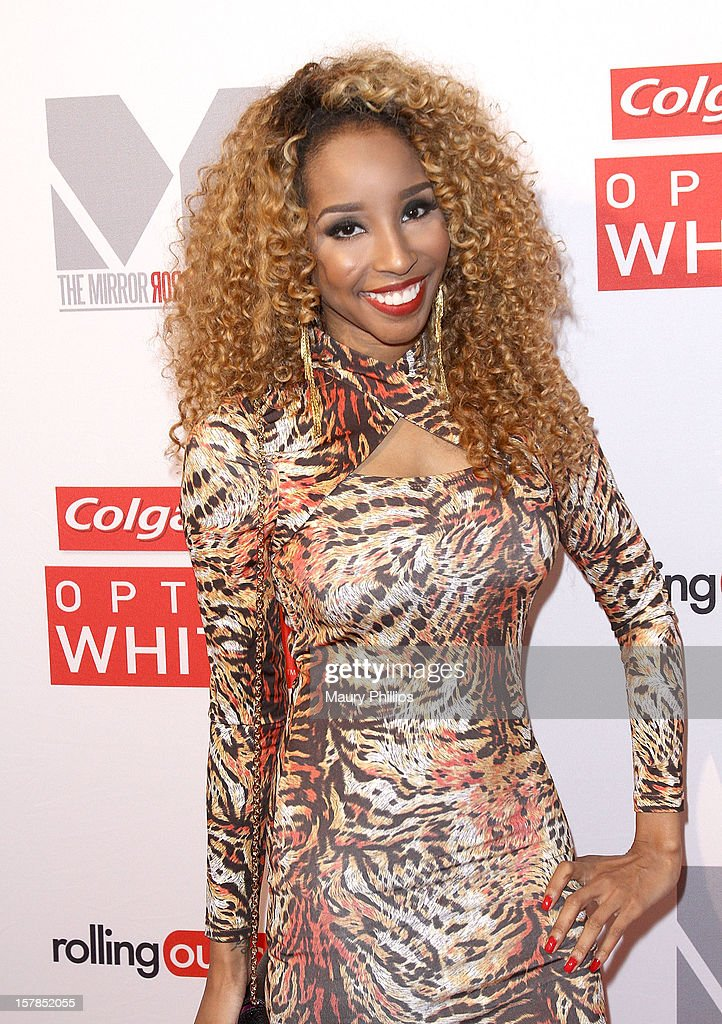 Necole Bitchie attends Rolling Out Mirror Mirror Awards at Rolling Stone Restaurant & Lounge on December 6, 2012 in Los Angeles, California.