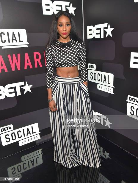 Necole Kane attends BET Social Awards Red Carpet at Tyler Perry Studio on February 11 2018 in Atlanta Georgia