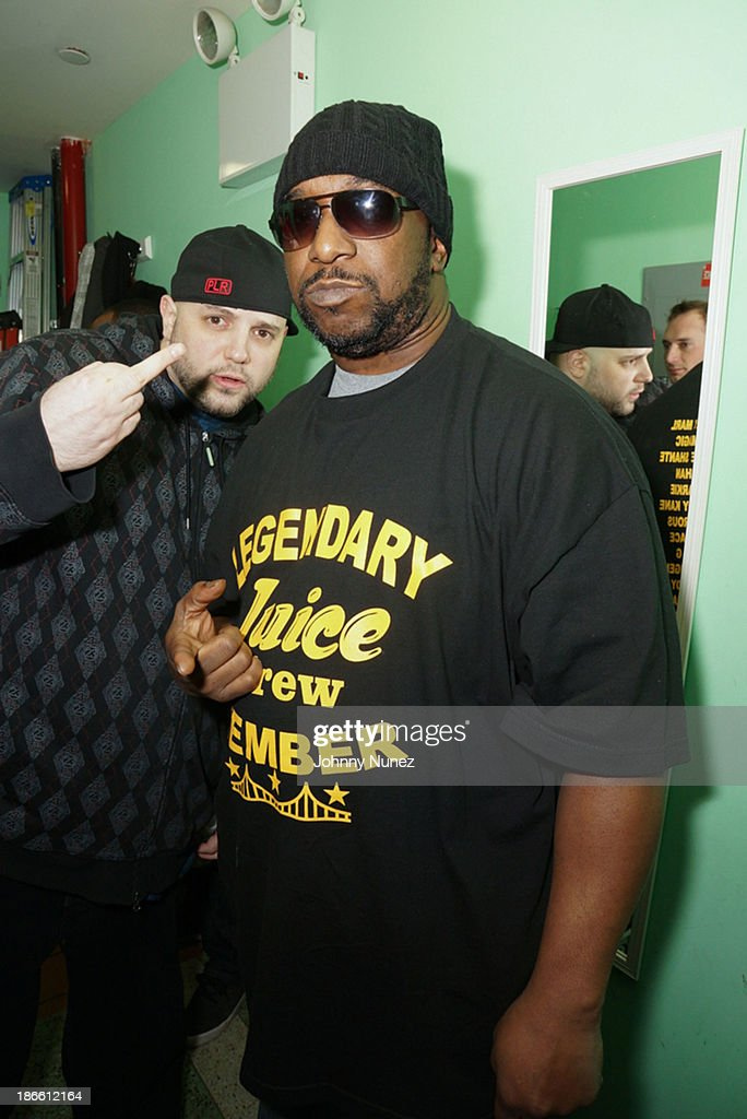 Necro and Kool G Rap attend Take It Personal Featuring Kool G Rap & Necro at UCB Theatre on November 1, 2013 in New York City.