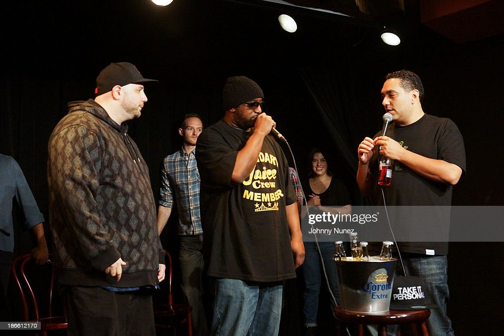 Necro, Kool G Rap and Cipha Sounds attend perform at Take It Personal Featuring Kool G Rap & Necro at UCB Theatre on November 1, 2013 in New York City.