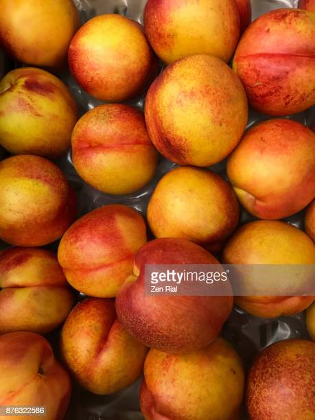 Nectarines on sale at a fruit stand