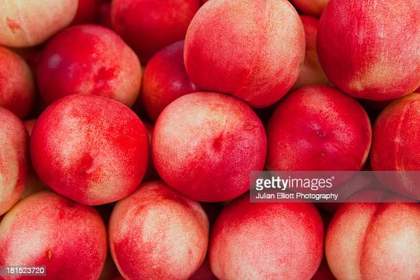 Nectarines on sale at a market