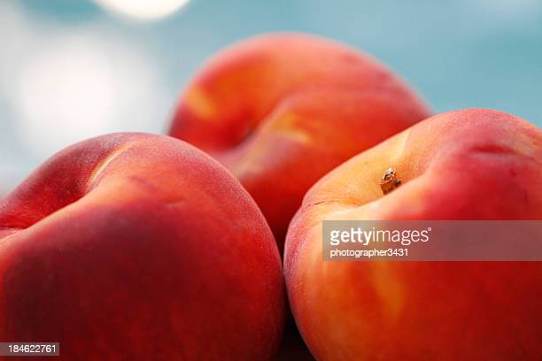 Nectarines on table