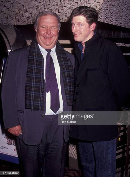 Ned Beatty and Adrian Dunbar attend the premiere of 'Hear My Song' on January 15 1992 at the 57th Street Theater in New York City