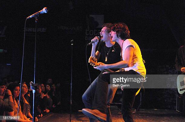 Ned Brower and Taylor Locke of Rooney perform at Exit In on February 21 2011 in Nashville Tennessee