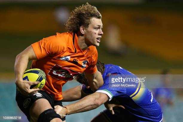 Ned Hanigan of the Eagles runs the ball during the round one NRC match between the Sydney Rays and NSW Country Eagles at Leichhardt Oval on September...