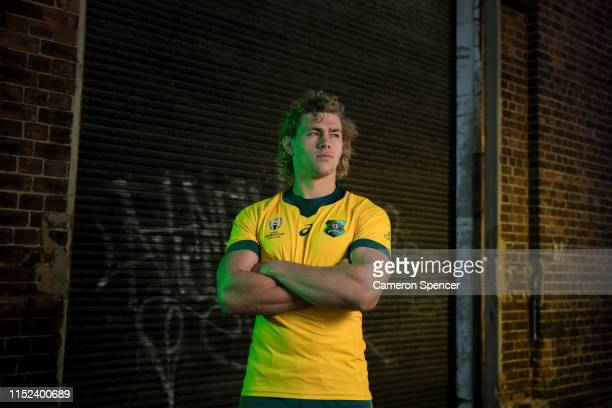 Ned Hanigan of the Wallabies poses during the Wallabies 2019 Rugby World Cup Jersey Launch at Carriageworks on May 29, 2019 in Sydney, Australia.