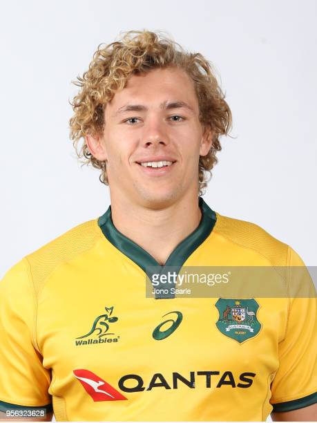 Ned Hanigan poses during the Australian Wallabies headshot session on May 7 2018 in Gold Coast Australia