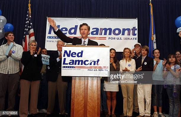 Ned Lamont founder and president of Lamont Digital Systems Inc announces his candidacy for the US Senate at the Old State House March 13 2006 in...