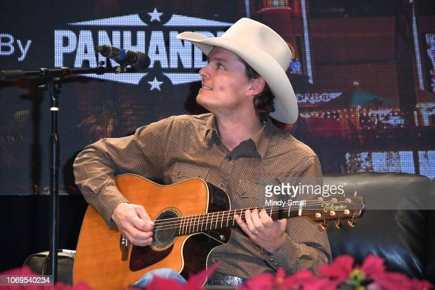 Ned LeDoux performs onstage during the Outside the Barrel with Flint Rasmussen show during the National Finals Rodeo's Cowboy Christmas at the Las...