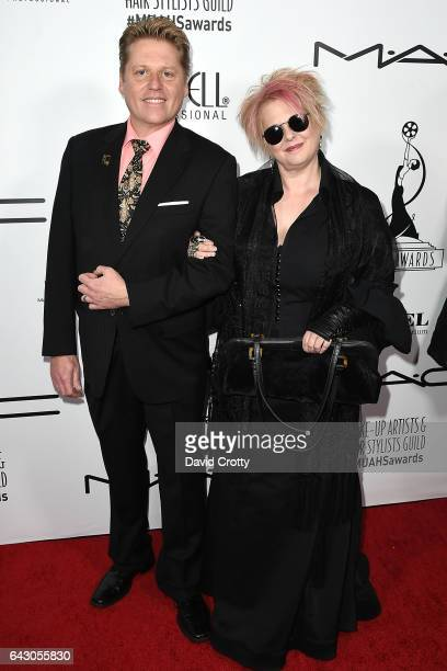 Ned Neidhardt and Jennifer Aspinall attend the 2017 Make-Up Artists And Hair Stylists Guild Awards - Arrivals at The Novo by Microsoft on February...