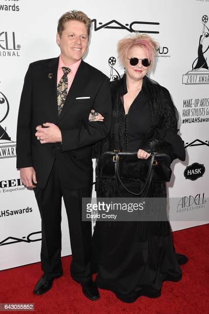 Ned Neidhardt and Jennifer Aspinall attend the 2017 MakeUp Artists And Hair Stylists Guild Awards Arrivals at The Novo by Microsoft on February 19...