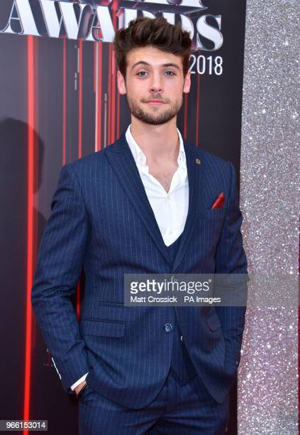 Ned Porteous attending the British Soap Awards 2018 held at The Hackney Empire London PRESS ASSOCIATION Photo Picture date Saturday June 2 2018 See...