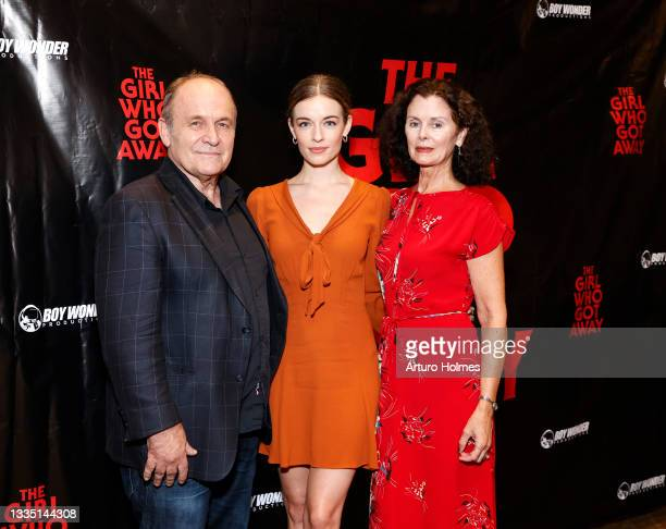 Ned Van Zandt, Anni Krueger, and Debra Lord Cooke attend The Girl Who Got Away Film Premiere at AMC Theater on August 19, 2021 in New York City.