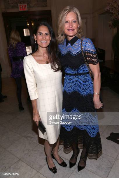 Neda Navad and Tracey Huff attend Madison Square Boys Girls Club 2018 Salute to Style luncheon at Metropolitan Club on April 18 2018 in New York City...