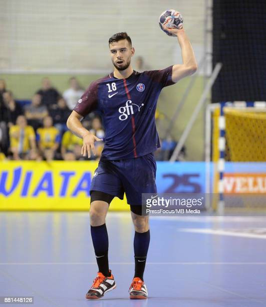 Nedim Remili during the EHF Men's Champions League Game between PGE Vive Kielce and PSG Handball on November 26 2017 in Kielce Poland