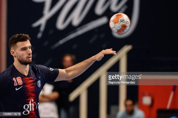 Nedim Remili of Paris Saint Germain during the Lidl Starligue match between Paris Saint Germain and Pays d'Aix Universite Club at Stade Pierre de...