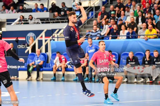 David Razgor of Celje during the Champions League match between Paris Saint Germain and CK Celje Pivovarna on September 23 2018 in Paris France