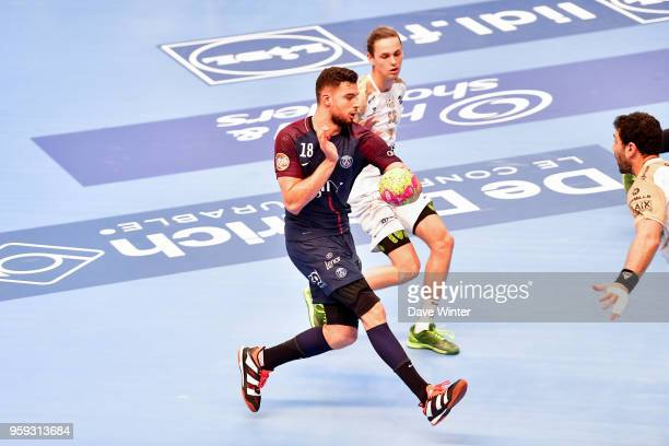 Nedim Remili of PSG during the Lidl StarLigue match between Paris Saint Germain and Aix at Salle Pierre Coubertin on May 16 2018 in Paris France