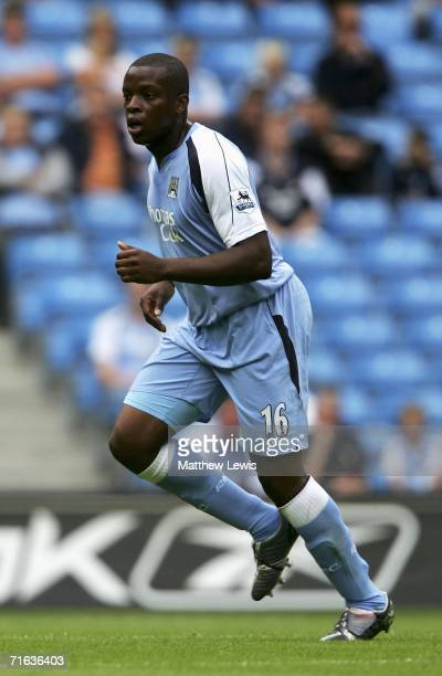 Nedum Onuoha of Manchester City in action during the PreSeason Friendly match between Manchester City and FC Porto at the City of Manchester Stadium...