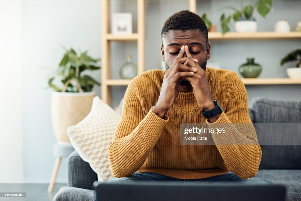 I need to find a way to cope with this stress : Stock Photo
