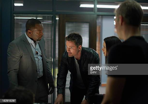 ALPHAS Need to Know Pictured Malik Yoba as Bill Harken Warren Christie as Cameron Hicks Laura Mennell as Nina Theroux
