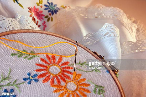 Needlepoint and embroidery