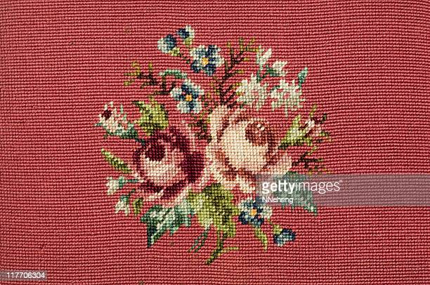 needlepoint rose design