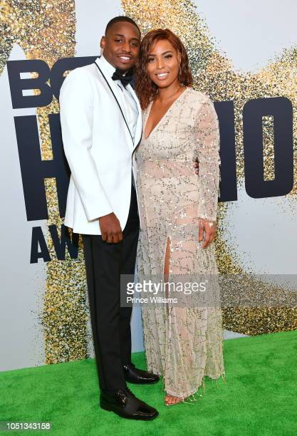 Neek Bey and Charmaine Johnise arrive at the BET Hip Hop Awards 2018 at Fillmore Miami Beach on October 6 2018 in Miami Beach Florida