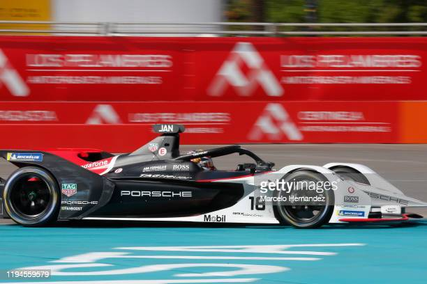 Neel Jani of Switzerland for Tagher Porsche team competes during the E-Prix Antofagasta Minerals as part the third round of the ABB FIA Formula E...