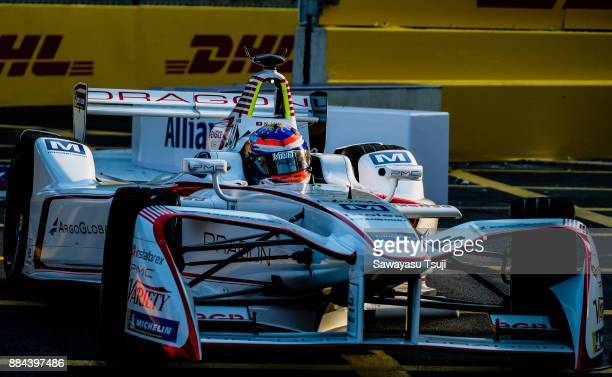 Neel Jani of Switzerland from DRAGON competes during the FIA Formula E Hong Kong 2017 E-Prix Round 1 at the Central Harbourfront Circuit on December...