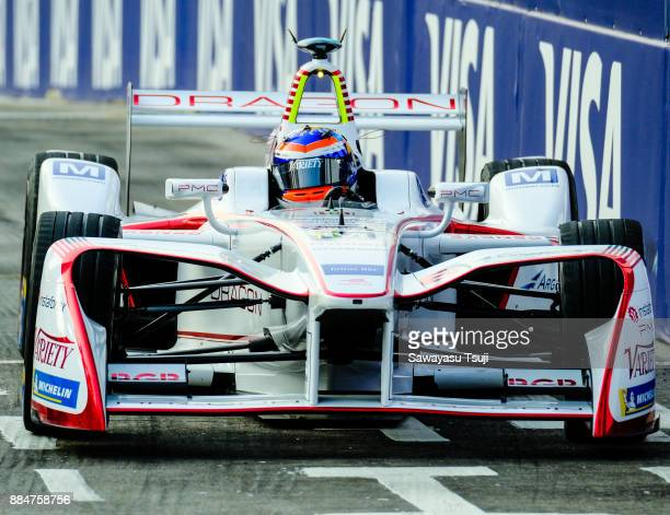 Neel Jani of Switzerland from Dragon competes during the FIA Formula E Hong Kong 2017 E-Prix Round 2 at the Central Harbourfront Circuit on December...