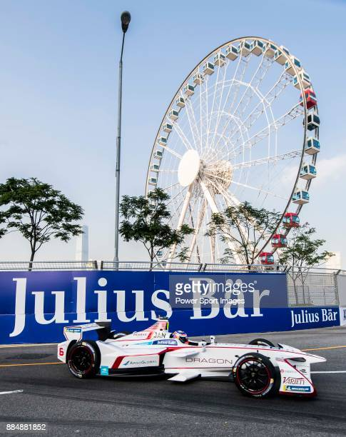 Neel Jani of Switzerland from DRAGON competes during the FIA Formula E Hong Kong E-Prix Round 2 at the Central Harbourfront Circuit on 03 December...