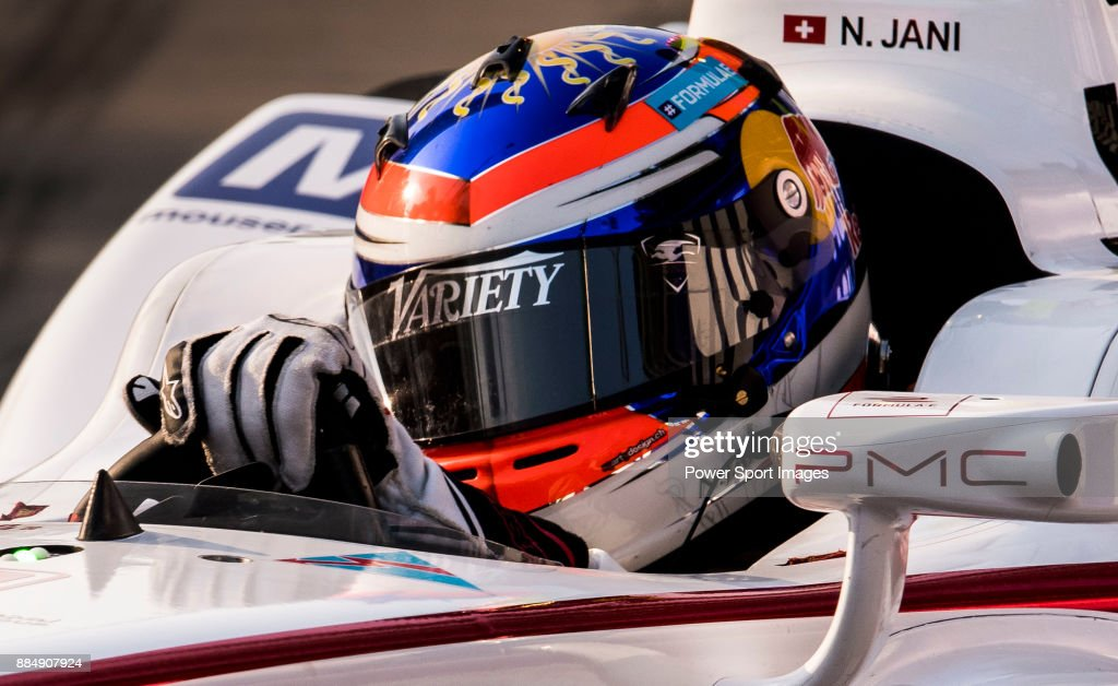 Neel Jani of Switzerland from DRAGON competes during the FIA Formula E Hong Kong E-Prix Round 2 at the Central Harbourfront Circuit on 03 December 2017 in Hong Kong, Hong Kong.